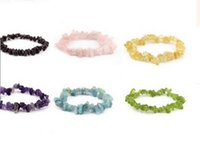 Wholesale Coral Chips - Wholesale-9Colors Jade Coral Turquoise Amethyst Agate Stone Bangle Stone Chips Bracelet