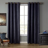Wholesale Hang Drapes - 52*95Inch Sheer Curtain Living Room Bedroom Curtains Simplicity Vertical Hanging Blackout Window Drapes Six Colors Wholesal