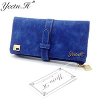 Vente en gros- 2017 Hot Sale Women Wallets Dull Polish Wallet Double Day Clutch Purse Wristlet Portefeuille Sacs à main M0027