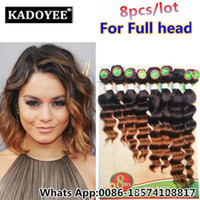 Where to find best weave hair extension hairstyle online best brazilian deep wave loose wave human hair extension brazilian peruvian human hair weaving bundles hairstyle 8pcs lot for full head in bulk pmusecretfo Images