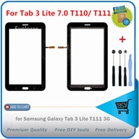 samsung galaxy tab wifi venda por atacado-1 pcs para samsung galaxy tab 3 7.0 lite sm-t110 t111 t111 tab 4 lite t116 3g wifi toque digitador da tela do painel de vidro + logotipo