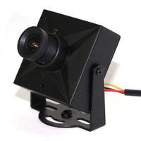 Wholesale Cctv Casing - analog 700tvl ccd camera cctv camera mini camera 3.6mm lens metal case good quality with screw bag