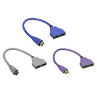 Wholesale hdtv convert - New HDMI 1 to 2 Split Double Signal Adapter Convert Cable for Video TV HDTV Wholesale