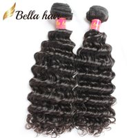 Wholesale hair extensions grade 8a resale online - 10 inch Grade A Indian Hair Extension Unprocessed Deep Wave Hair Natural Color Human Hair Extensions