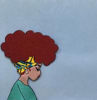 saco do estilo da brim venda por atacado-Estilo Africano Afro Boho Afro Penteado Menina Bordado patch 3.8 * 3 Polegadas para Roupas Jeans Bag Decoração Ferro no Remendo Frete Grátis