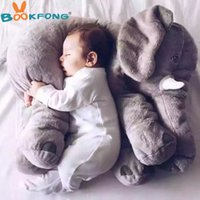 Wholesale Red Stuffed Teddy Bear - plush BOOKFONG 1pc Big Size 60cm Infant Soft Appease Elephant Playmate Calm Doll Baby Elephant Pillow Plush Toys Stuffed Doll