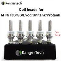 Wholesale Evod Head Mt3 - Kanger Protank Coils Single Coil fit for eVod MT3 T3S GS H2 unitank Atomizers Replacement Coil unit heads DHL EMS Fedex Free shipping