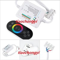 Wholesale 216w Led - Free shipping DC12V-24V 216W MAX Wireless Touch Panel RF RGB Remote Controller For RGB LED Strip Light