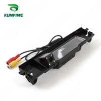 Wholesale Light Rear For Cars - CCD Track Car Rear View Camera For Toyota Yaris 08 09 11 Parking Assistance Camera Track Line Night Vision LED Light Waterproof KF-V1257L