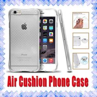 Wholesale Transparent Cards Wallet - Anti-shock Air Cushion Soft TPU Transparent Protective Phone Cover Case for iPhone 7 5 SE 6 6s Samsung Note7 S6 S7 Edge