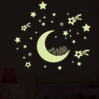 Wholesale Luminous Wall Stickers For Children - Mix Colors Kids Room Wall Stickers Fluorescent Luminous Sticker for Children Boys Girls Bedroom Wall Decorations Wall Art