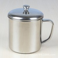 Wholesale tea cup portable - 600ml Stainless Steel Mugs Tea Coffee Milk coffee Drinkware with handle Drop Resistance Portable Cups with Lid