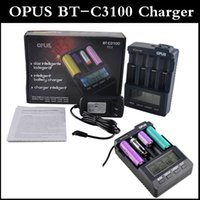 Wholesale lcd piece - OPUS BT-C3100 LI-ion NiCd NiMh Lcd Intelligent Digital 2.0 Carregador battery charger AA 18650 charger 1 piece