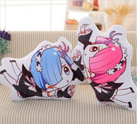 Wholesale rem anime online - 60 cm Anime Re Life in a Different World From Zero Rem Ram Pillow Plush Toys Cute Cushion Plush
