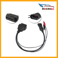 Wholesale Alfa Fiat Cable - Free Shipping Fiat 3 Pin Alfa Lancia to 16 Pin OBD2 OBDII Connector Adapter Cable Fiat 3pin Diagnostic Cable