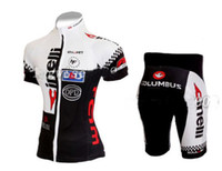 ingrosso corti bicicletta da donna-Ciclismo femminile JERSEY + SHORTS BIKE SETS VESTITI 2011 CINELLI BLACK WHITE-SIZE: XS-XL