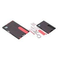 Wholesale Car Credit - 12in1 Multi-purpose Survival Tool Card Portable Pocket Credit Card Multi-function Survival Knife Led Light Outdoor Camping Tools