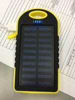 Wholesale Solor Chargers - wholesale led indictor solor power bank 5000mah Ultra-thin Solar Power Bank Phone Portable Charger Solar power bank 5000mah