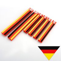 Wholesale volvo stickers - 6PCS Car Styling German Flag Door Edge Guard Protector Rear View Mirror Anti-scratch Stripe Bar Universal for VW Golf Polo for Audi Volvo