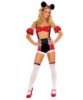 uniformes jogo de lingerie sexy venda por atacado-Frete grátis na Europa e América lingerie sexy uniformes de jogo carregado de natal Mickey uniformes boate carregado RPG