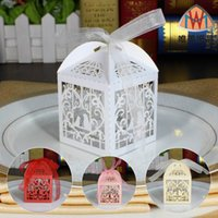 Wholesale Lovebirds Favor - Ou and joyful box Hollow out packaging gift boxes Lovebirds wedding candy box