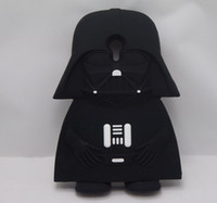 Wholesale Darth Warrior - 3D Super Hero Cool Darth Vader Black Soldier warrior Silicone Cover Case For moto G3,free shipping