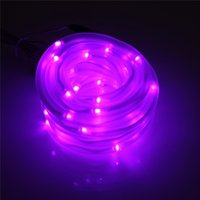 Top Quality 7M 50 LED Rope Tube solaire Guirlande LED Strip Light Decor Fairy Garden Outdoor Xmas Party Waterproof