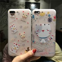 Wholesale 3d Cartoon P - 2017 new shelf general cartoon suit I7 silicone 3D mobile phone case I6s p cartoon protective cover.