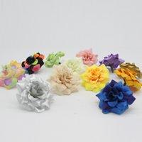 saç için çiçek parçaları toptan satış-Çevre Dostu 100 adet 1 .77 İnç Yapay İpek Küçük Gül Çiçek Ev Bahçe Dekor Parti Düğün Saç Klip Afh0047 Favors Heads