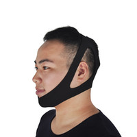 Wholesale Stop Snoring Belt - Black Anti Snoring Chin Strap Neoprene Stop Snoring Chin Strap Support Belt Anti Apnea Jaw Solution Sleep Device Snoring Cessation 0613018