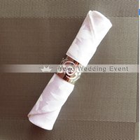 Wholesale 100pcs Polyester inch Plain Jacquard White Napkin Leaf pattern For Hotel