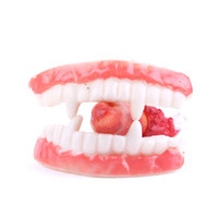 6.5 * 2.4Cm Halloween Decorazione PVC Falso Dente Bianco Cuspid Denti Protesi Denti Prank Costume Partito Halloween Party Vampiro Dracula