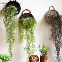 Wholesale Artificial Willow Vines - Artificial Admiralty willow 1pcs 78cm simulation plant 5 colors DIY wall hanging vine wedding decoration for home hotel decor