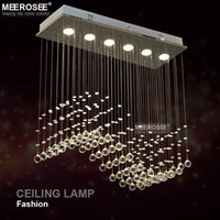 Wholesale Wave Ceiling - Fast Shipping Crystal Chandelier Light crystal curtain wave light fitting for Dining room, bedroom, foyer and ceiling MD8495