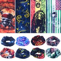 Wholesale Reversible Fleece - Magic Scarves Magic Kerchief Outdoor Double Layer Fleece Headwear Motorcycle Neck Warmers Cycling Multi Function Polar Reversible Bandanas