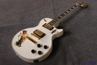 Wholesale Electric Guitar Decals - New brand electric guitar customised way solid white,body top with decal!