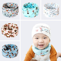 Wholesale Tie Baby Hats - Baby Magic Scarves Spring Autumn Winter Scarf Kids Cotton Neck Warmer Boys Girls O Ring Scarf Children Collars Multifunction Hat Mask