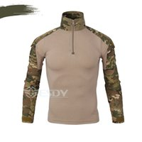 Wholesale Combat Camouflage Uniform - 2017 Spring Europe Autumn China US Army Camouflage Military Combat Shirt Multicam Uniform Militar Shirt Paintball Hunting Tactical Clothes