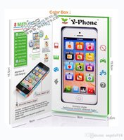Wholesale Learn English Toys - New Learning & Education Kids Toys Y Phone 5 kids English Learning Machine Light Children Yphone Fun Toys E1716