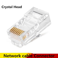 Wholesale 8P8C RJ45 Modular plug connector for Network cable Patch cable connectors Crystal Head high quality