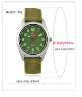 Wholesale Canvas Water Round - Army military watch sports nylon canvas band watch mens watch casual waterproof wristwatch studens unsex watches