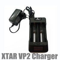 Wholesale voltage current lcd - Digital Multifunctional XTAR VP2 LCD Intelligent 2 Slots Channels Current Voltage Selectable Lithium Li-ion Battery Charger