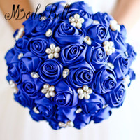 Wholesale jewelry brooch bouquet for sale - Group buy Red Rose flower bridal brooch bouquet Wedding Bride s Jewelry crystal Pearl Rhinestone Cloth fabric Bouquets