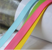 Wholesale Stick Tape Hair - HOT!15% 0ff! 300yards 196 colors 3 8 inch Solid Color Grosgrain Ribbon bow Wedding celebration decoration DIY Materials Tape Ribbon for Bows