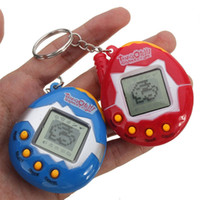 Wholesale Toy Electronic Pets - New Retro Game Toys Pets In One Funny Toys Vintage Virtual Pet Cyber Toy Tamagotchi Digital Pet Child Game Kids with Nostalgic Keychain