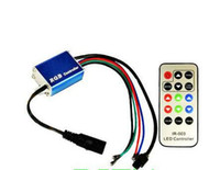 Wholesale speed controller 12v online - 12V V A RGB LED Amplifier Repeater Brightness Speed Adjustable IR Wireless Remote Controller for RGB LED Flexible Strip Lamp CE ROSH