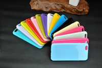 Wholesale Iphone Bumper Matte Back - TPU Phone Case Matte Skin Bumper Frame Candy Colorful Back Cover for iphone 6 6s 6plus for DHL Free Shipping