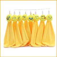 Wholesale Hanging Kitchen Hand Towels   Smiling Face Emoji Dishcloth For  Home Kitchen Articles Lovely Cleaning