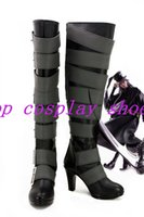 Costume Accessories black butler undertaker - Black Butler Kuroshitsuji Undertaker under taker high heel ver Cosplay Shoes Boots shoe boot MM1641 anime Halloween Christmas