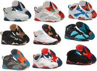 Wholesale Turquoise Green Fabric - Basketball Shoes RETRO 7 WHITE TURQUOISE BLACK ICE BLUE Basketball Boots Men Athletics Wholesale Sports Shoes Sneaker